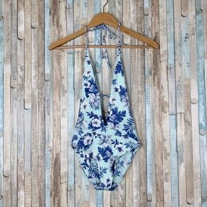 New Frankies S Blue Floral Lily One Piece Swimsuit